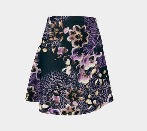 Floral Animal Flare Skirt