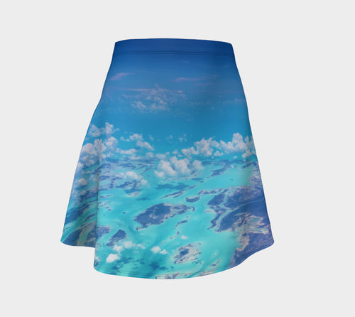 Angel Over Aruba Flare Skirt