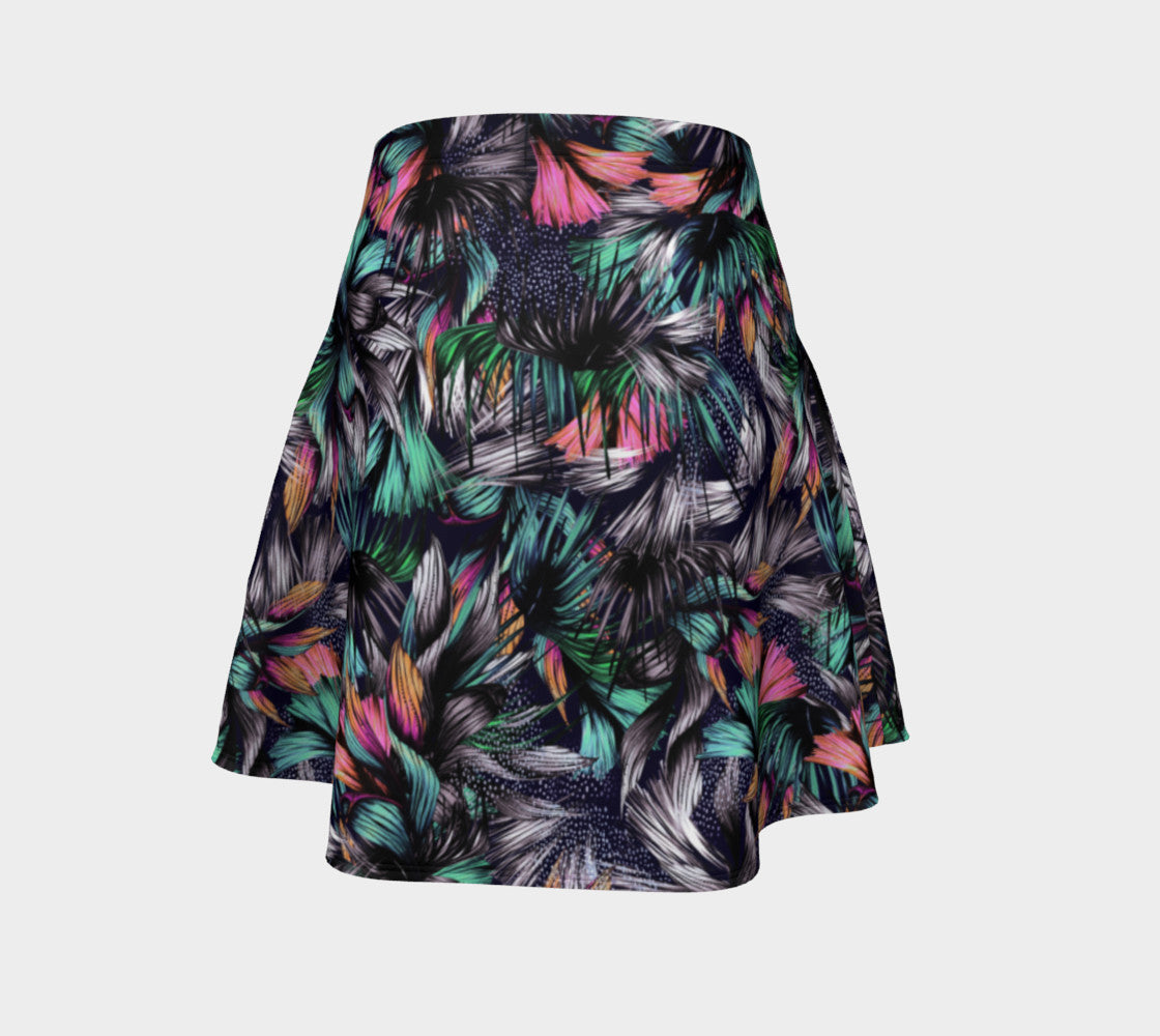 Feathery Tropical Flare Skirt Flare Skirt  Roxie Rudolph Roxie Rudolph Roxie Rudolph
