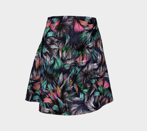 Feathery Tropical Flare Skirt