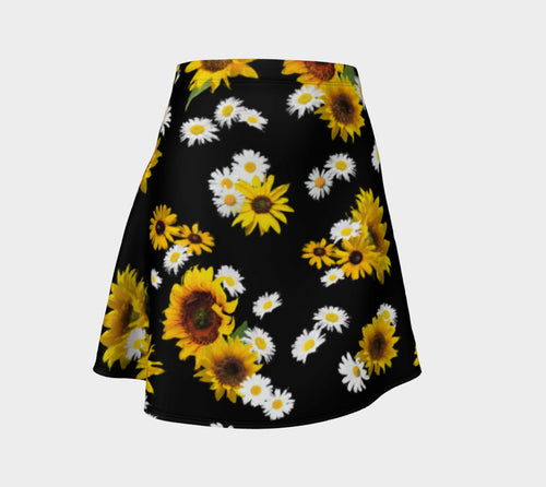 Sunflowers and Daisies Flare Skirt