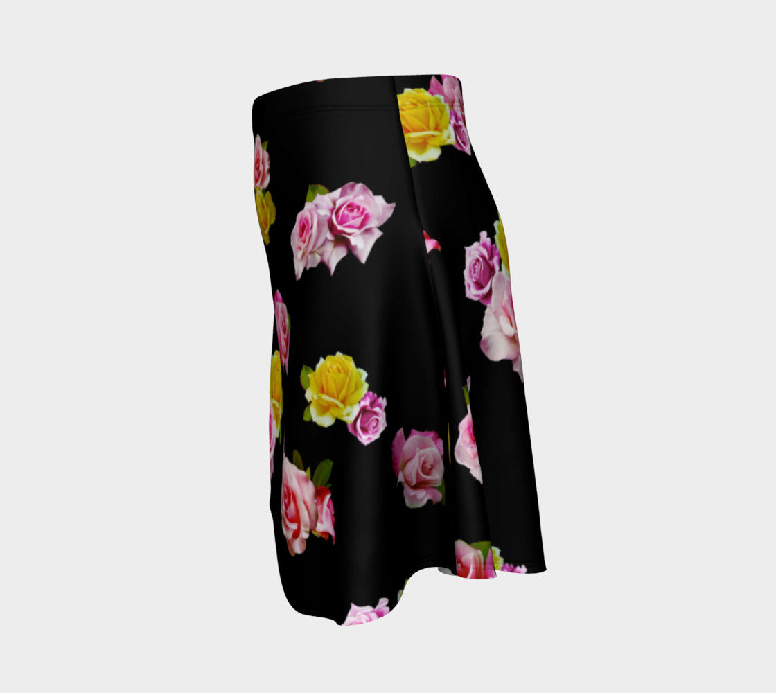 Photoreal Floral Flare Skirt