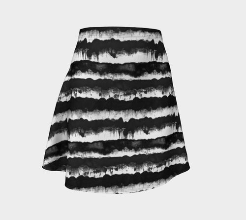 Inky Stripe Flare Skirt