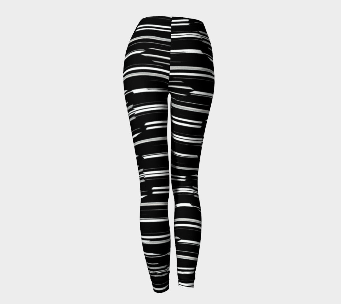 Smeared Stripe Leggings