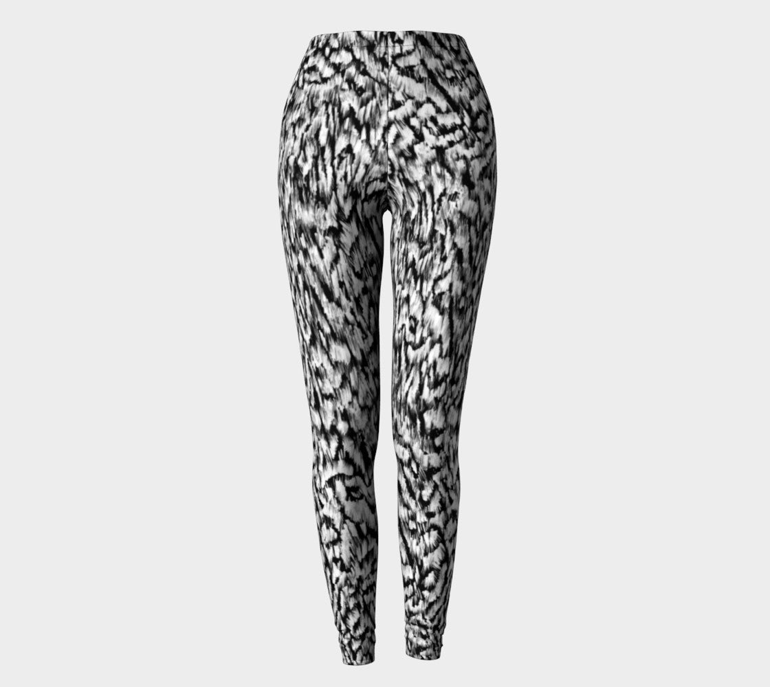 Black + White Animal Leggings Leggings  Roxie Rudolph Roxie Rudolph Roxie Rudolph