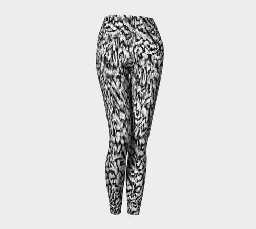 Black + White Animal Leggings