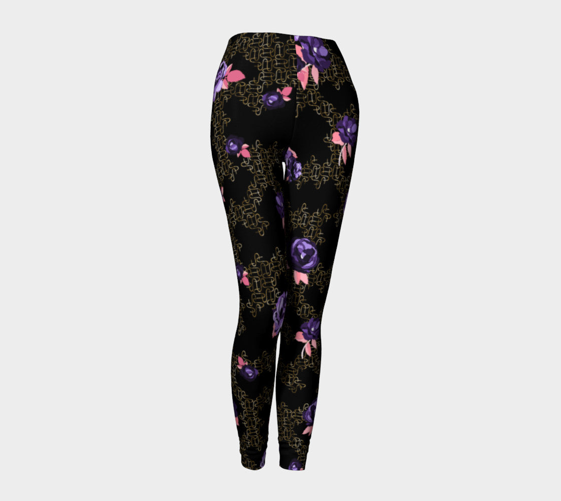 Gold Link Flowers Leggings Leggings  Roxie Rudolph Roxie Rudolph Roxie Rudolph
