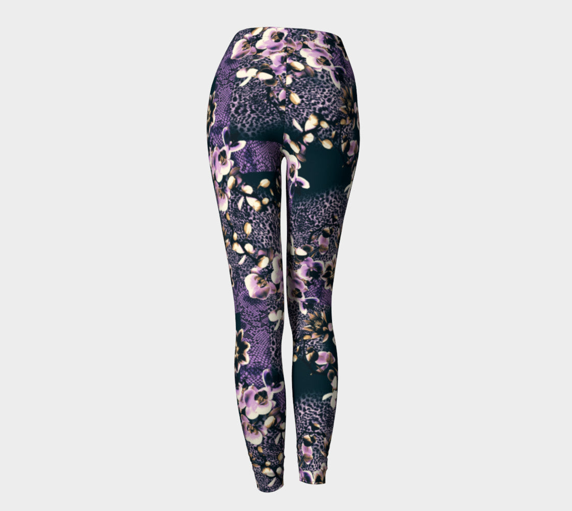 Floral Animal Leggings Leggings  Roxie Rudolph Roxie Rudolph Roxie Rudolph