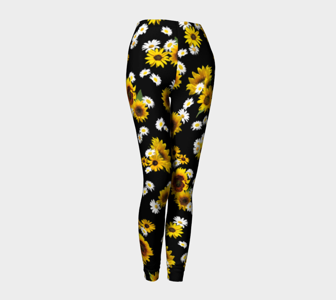 Sunflowers and Daisies Leggings Leggings  Roxie Rudolph Roxie Rudolph Roxie Rudolph