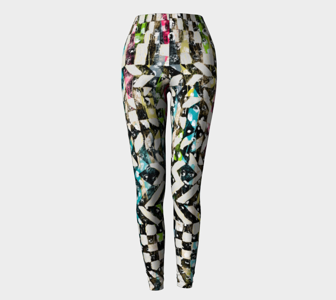 Checkered Canvas Leggings Leggings  Roxie Rudolph Roxie Rudolph Roxie Rudolph