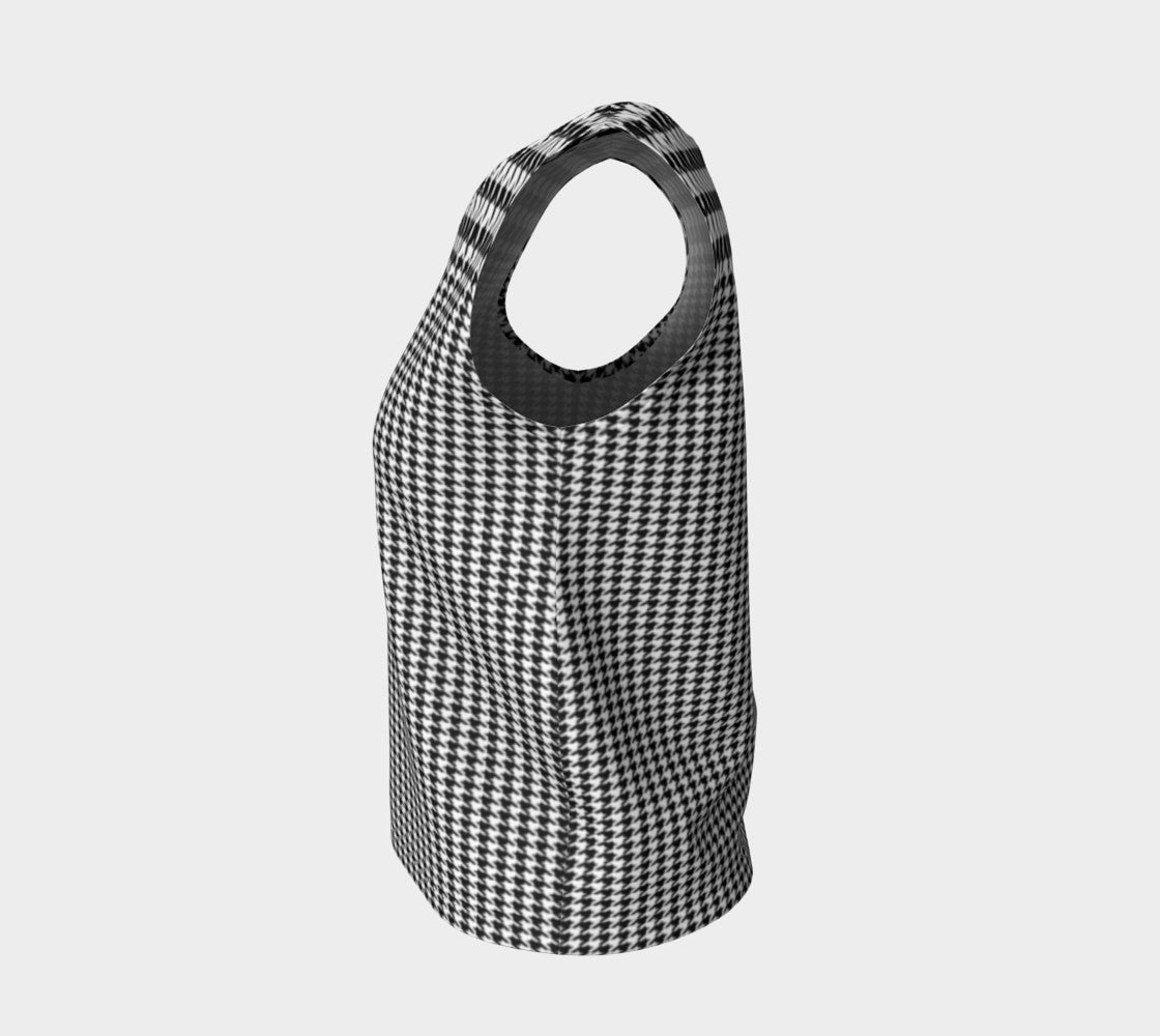 Houndstooth Loose Tank Top/Regular Length Loose Tank Top (Regular)  Roxie Rudolph Roxie Rudolph Roxie Rudolph