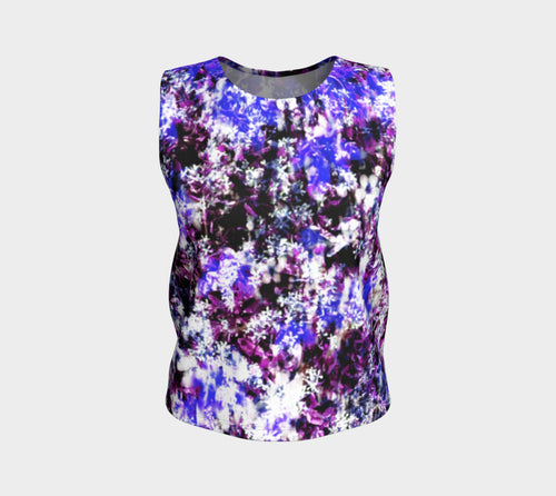 Fantasy Floral Loose Tank Top/Regular Length