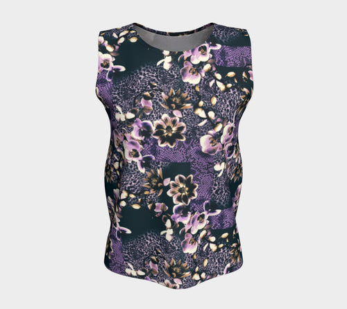 Floral Animal Loose Tank Top/Long Length