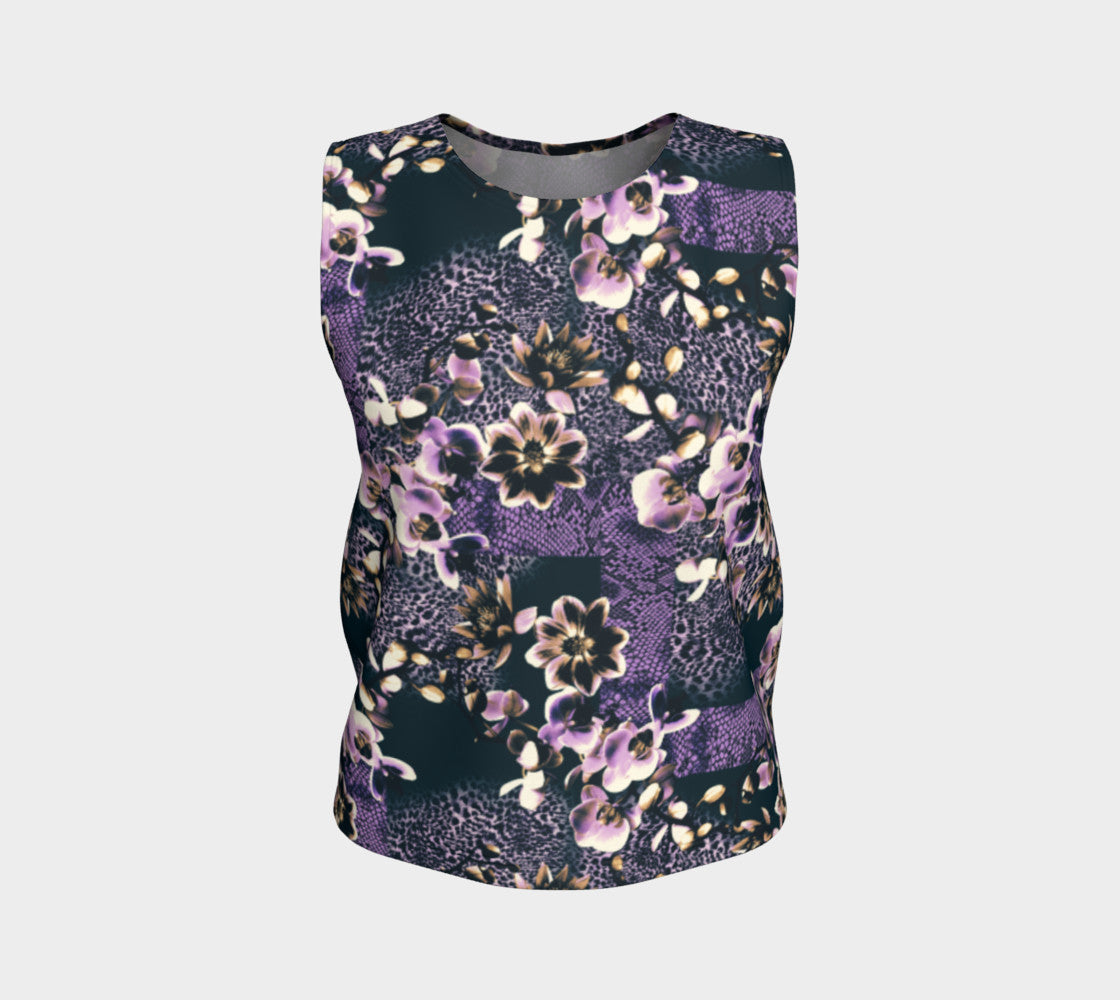 Floral Animal Loose Tank Top/Regular Length Loose Tank Top (Regular)  Roxie Rudolph Roxie Rudolph Roxie Rudolph