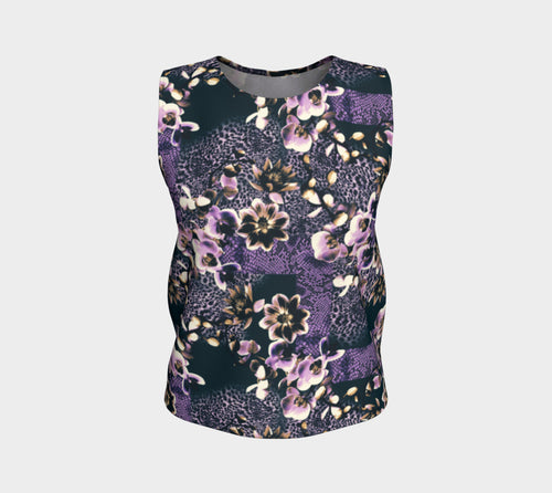 Floral Animal Loose Tank Top/Regular Length