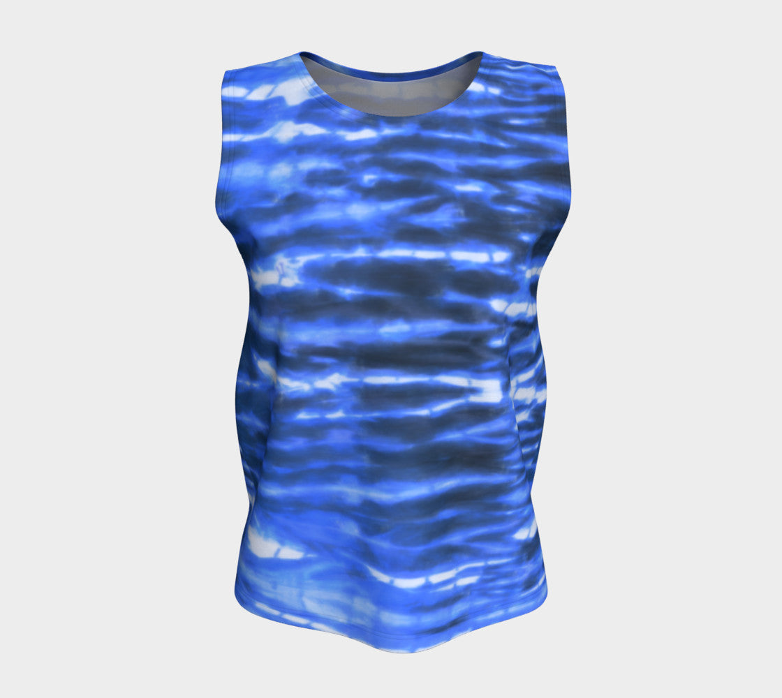 Shibori Stripe Loose Tank Top/Long Length