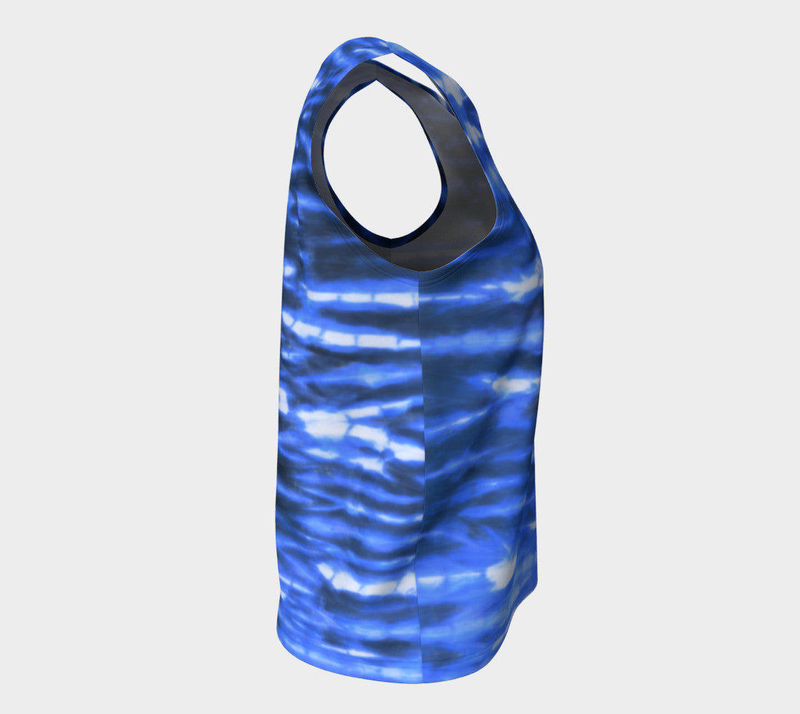 Shibori Stripe Loose Tank Top/Long Length Loose Tank Top (Long)  Roxie Rudolph Roxie Rudolph Roxie Rudolph