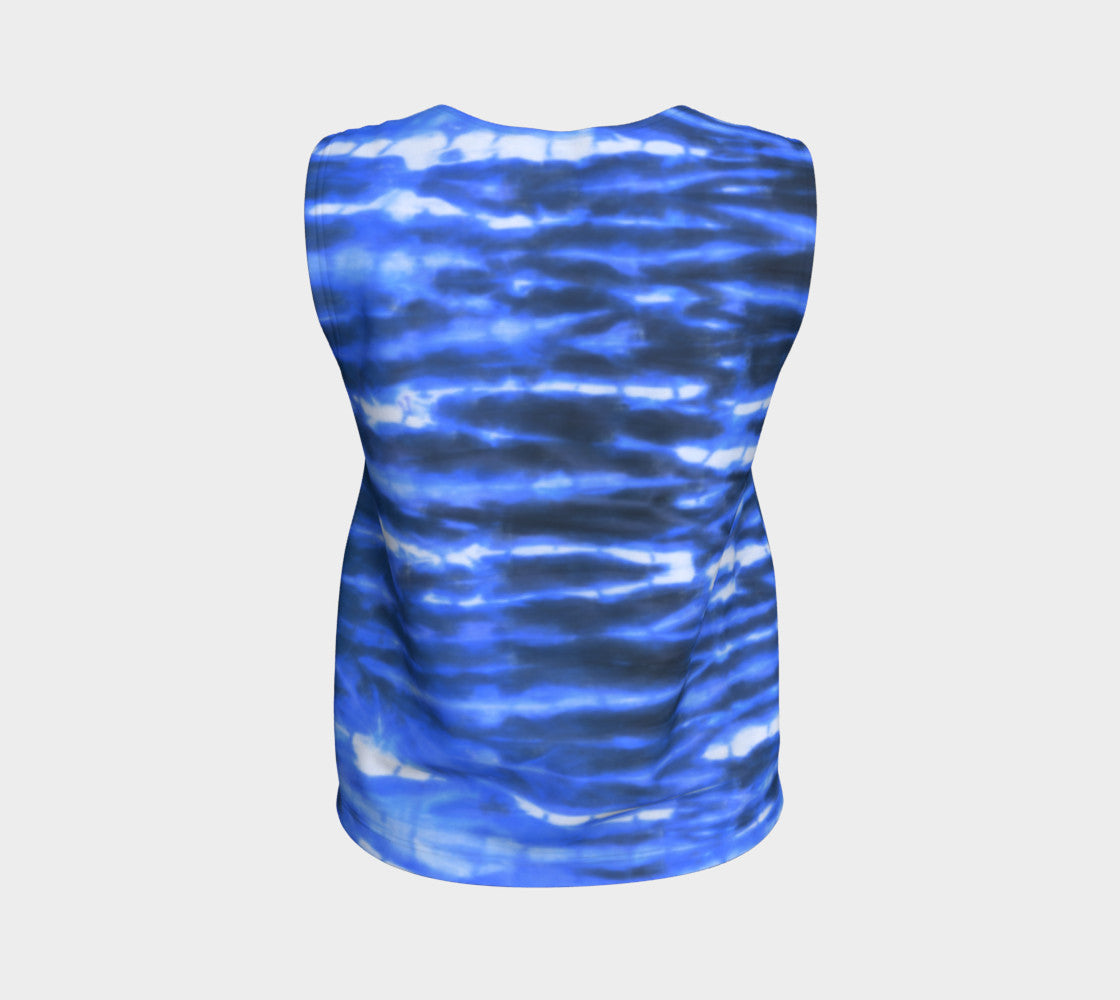 Shibori Stripe Loose Tank Top/Regular Length