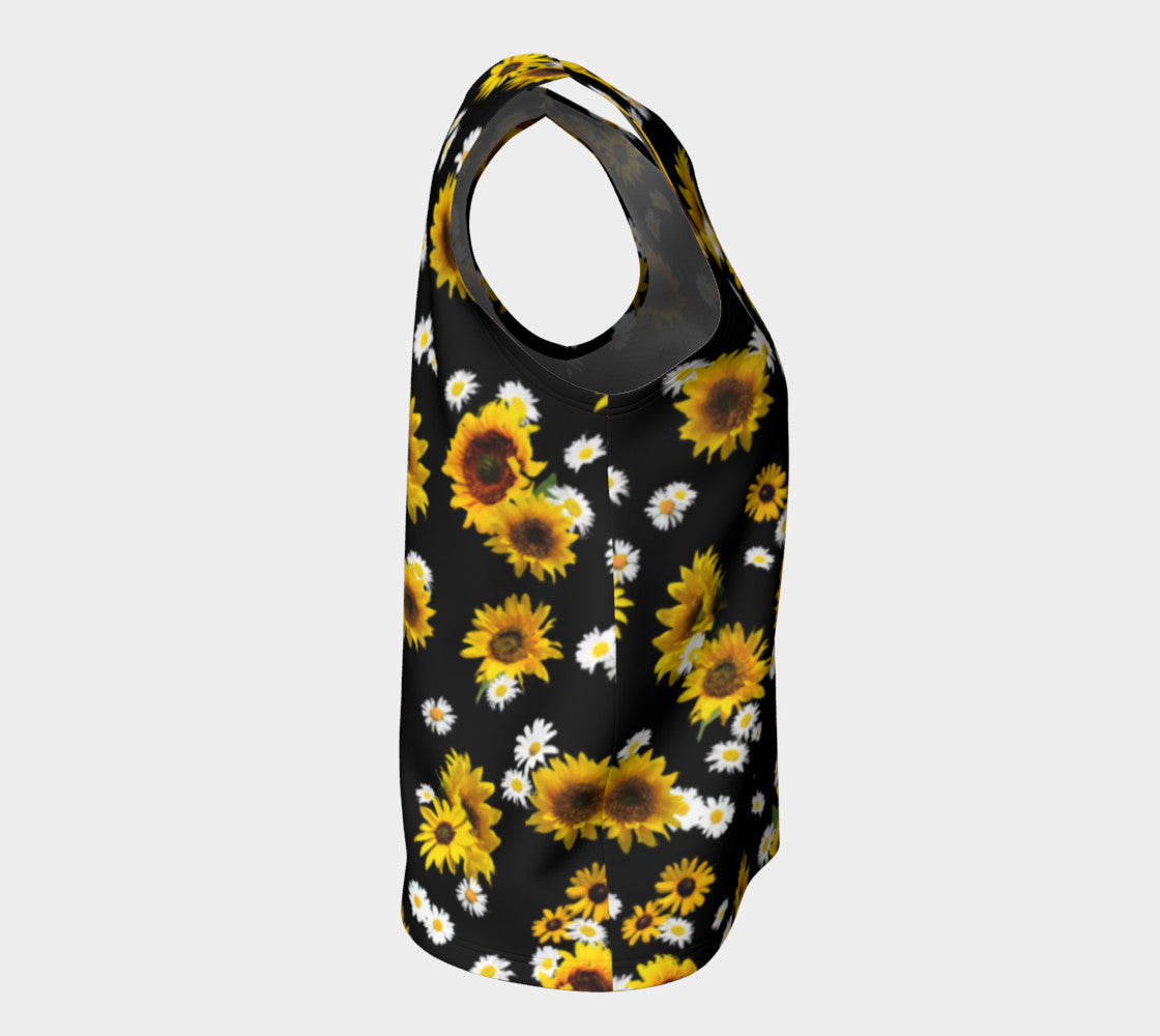 Sunflowers and Daisies Loose Tank Top/Long Length Loose Tank Top (Long)  Roxie Rudolph Roxie Rudolph Roxie Rudolph