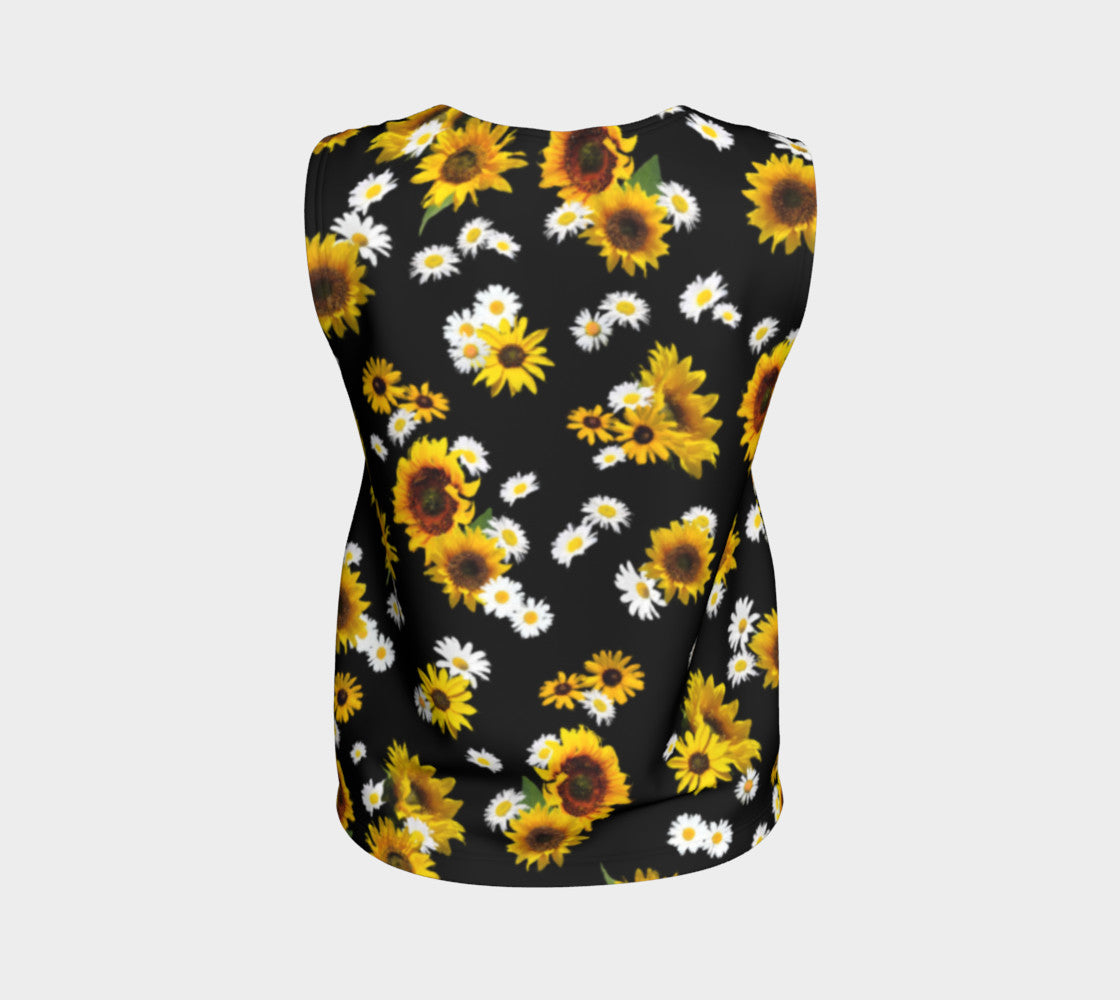 Sunflowers and Daisies Loose Tank Top/Regular Length Loose Tank Top (Regular)  Roxie Rudolph Roxie Rudolph Roxie Rudolph