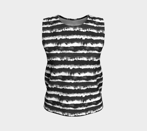 Inky Stripe Loose Tank Top/Regular Length