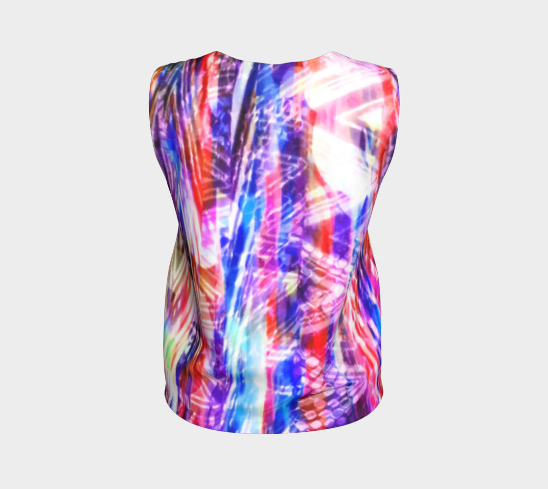 Zig Zag Overlay Loose Tank Top/Regular Length Loose Tank Top (Regular)  Roxie Rudolph Roxie Rudolph Roxie Rudolph