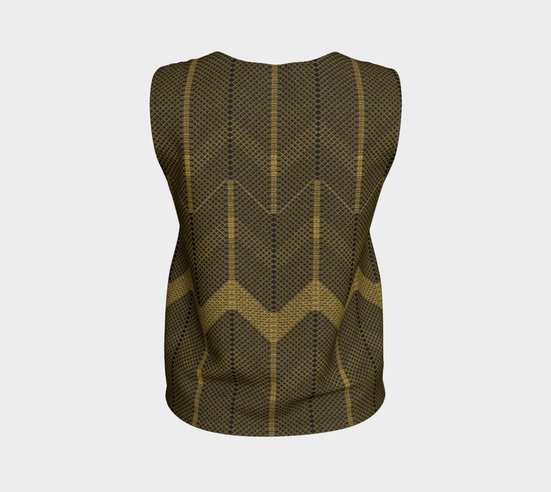 Gold Foil Mesh Loose Tank Top/Regular Length Loose Tank Top (Regular)  Roxie Rudolph Roxie Rudolph Roxie Rudolph