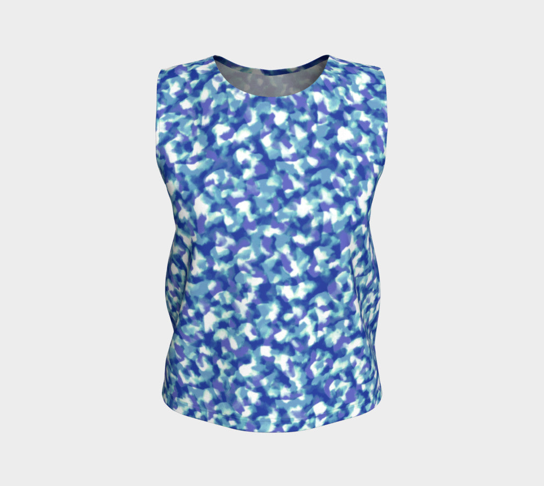 Blue Bliss Loose Tank Top/Regular Length Loose Tank Top (Regular)  Roxie Rudolph Roxie Rudolph Roxie Rudolph