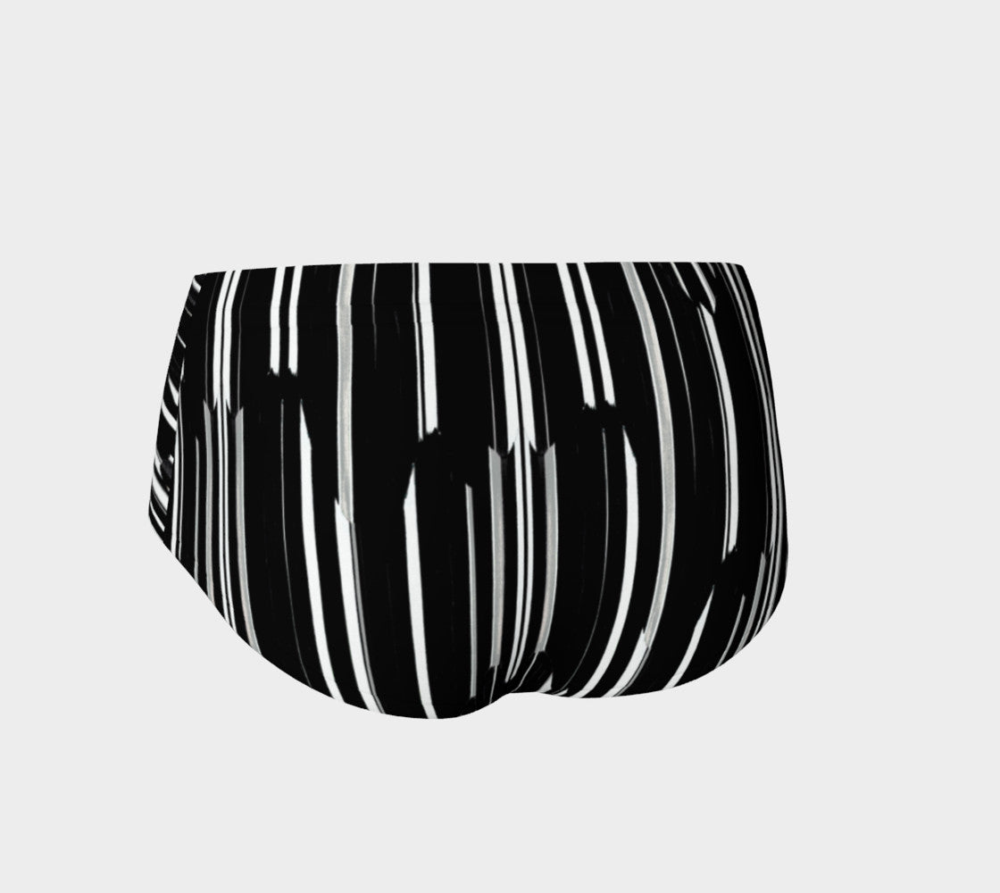 Smeared Stripe Mini Shorts