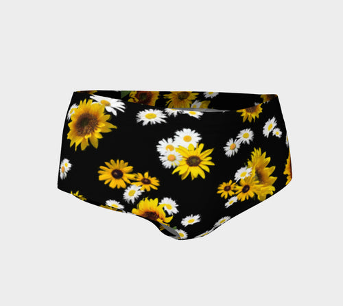 Sunflowers and Daisies Mini Shorts