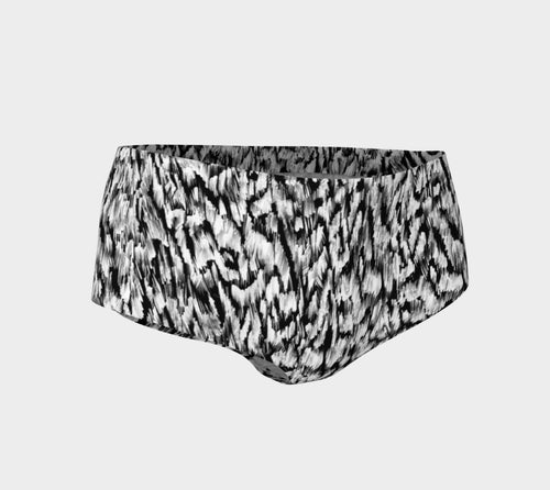 Black + White Animal Mini Shorts