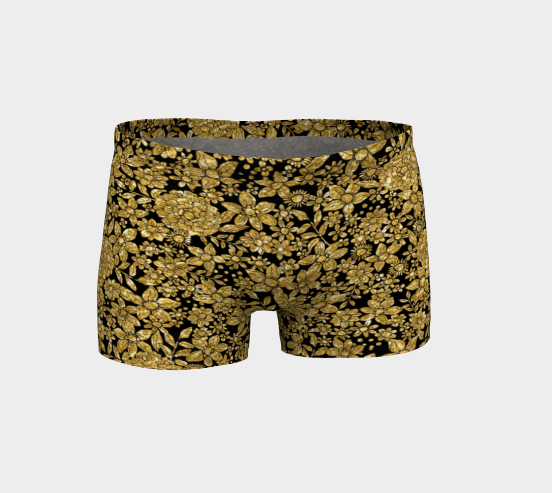 Gold Foil Flowers Shorts Shorts  Roxie Rudolph Roxie Rudolph Roxie Rudolph