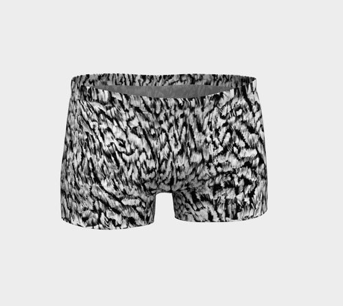 Black + White Animal Shorts