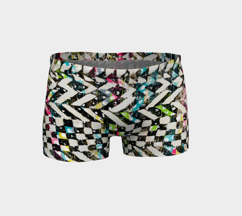 Checkered Canvas Shorts