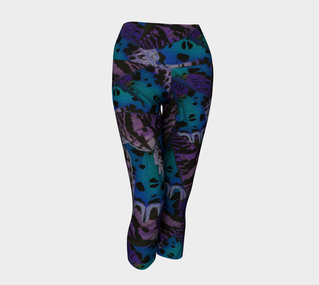 Moody Butterfly Yoga Capris