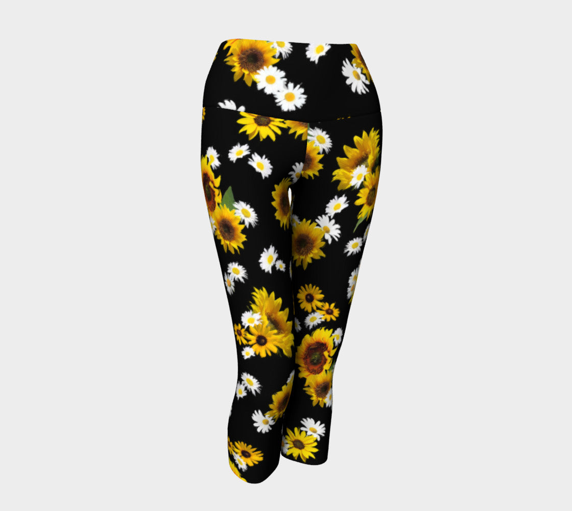 Sunflowers and Daisies Yoga Capris