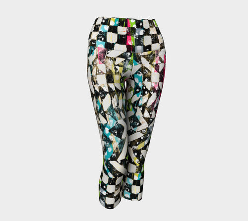 Checkered Canvas Yoga Capris