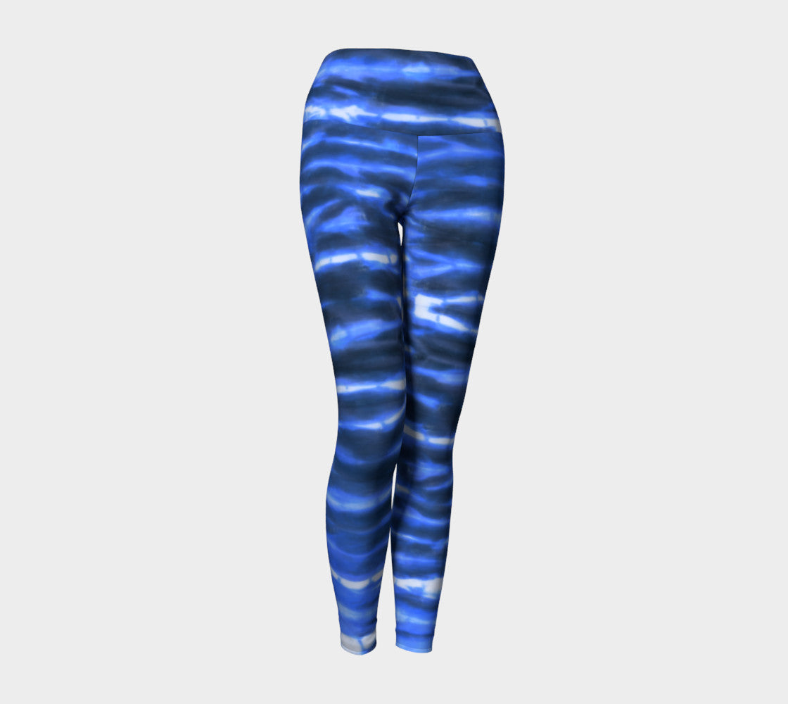 Shibori Stripe Yoga Leggings