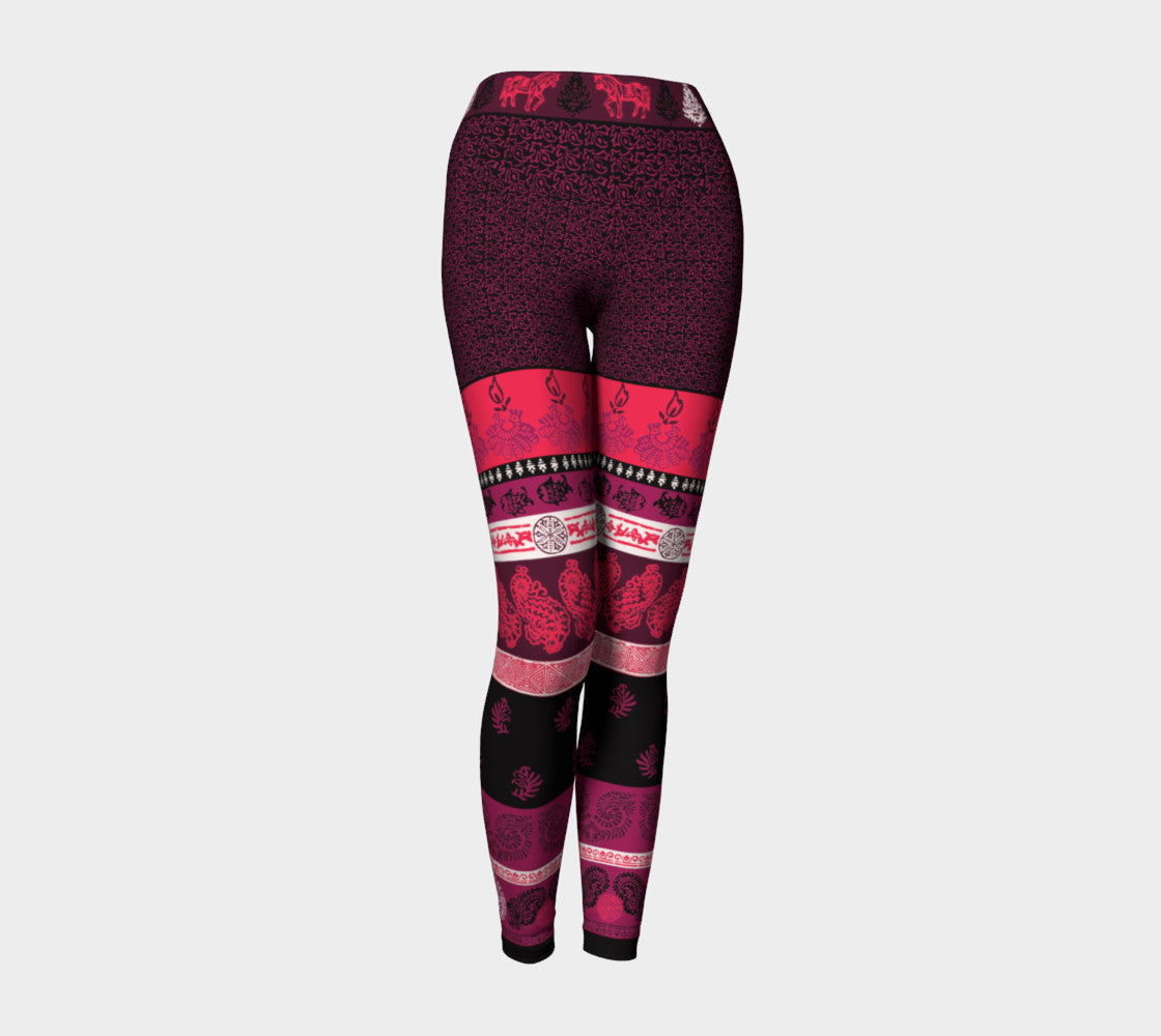 Animal Paisley Yoga Leggings Yoga Leggings  Roxie Rudolph Roxie Rudolph Roxie Rudolph