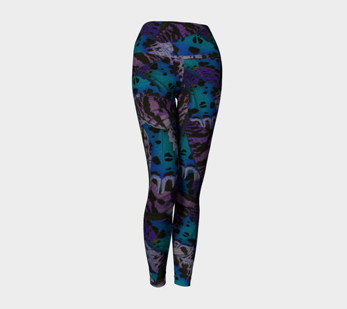 Moody Butterfly Yoga Leggings