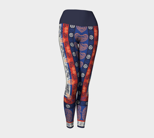Elephant Paisley Yoga Leggings