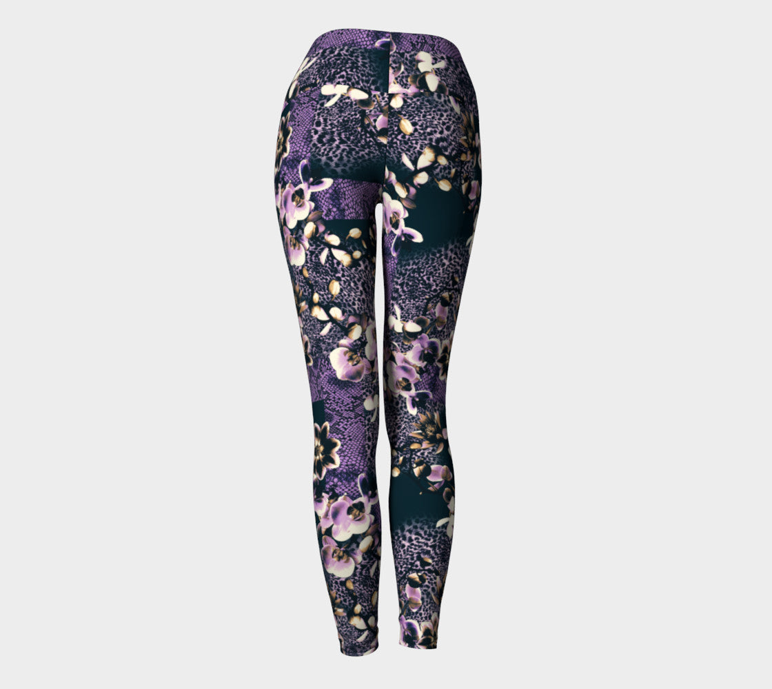 Floral Animal Yoga Leggings Yoga Leggings  Roxie Rudolph Roxie Rudolph Roxie Rudolph