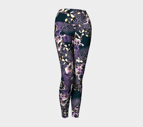 Floral Animal Yoga Leggings