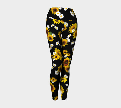 Sunflowers and Daisies Yoga Leggings