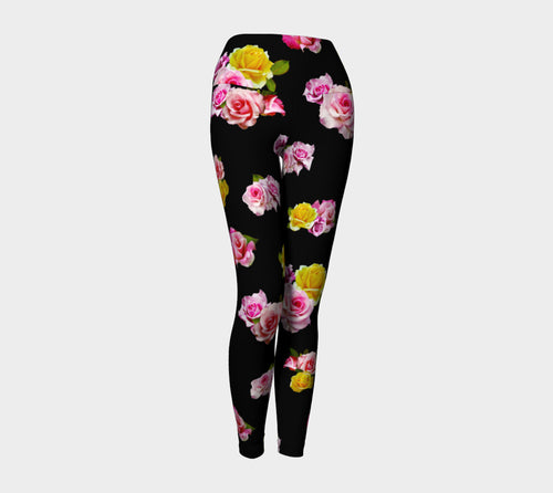 Photoreal Floral Yoga Leggings