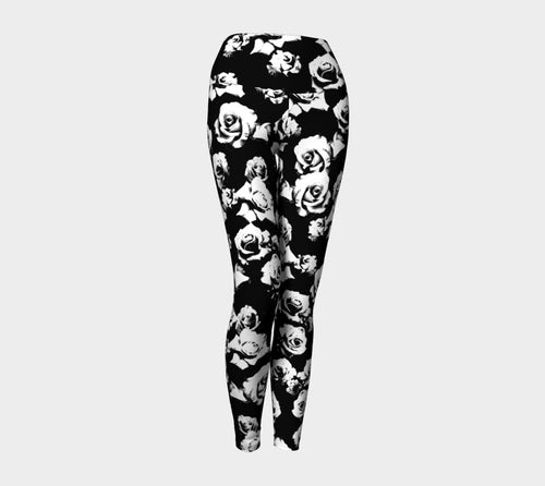 B+W Rose Yoga Leggings