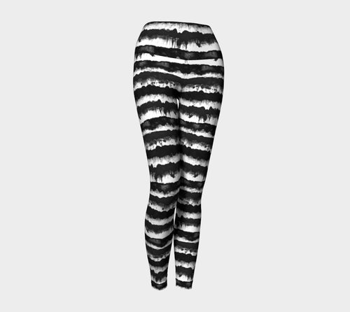 Inky Stripe Yoga Leggings