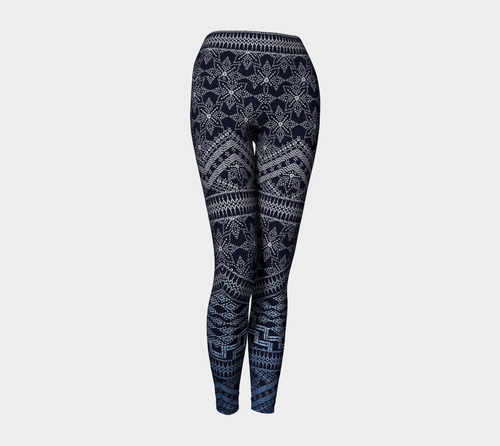 Boho Embroidery Yoga Leggings
