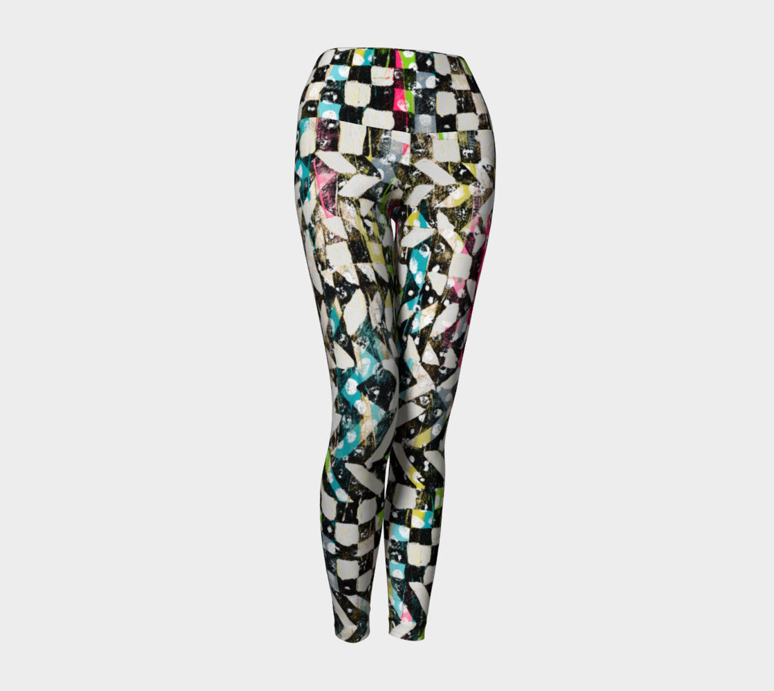 Checkered Canvas Yoga Leggings Yoga Leggings  Roxie Rudolph Roxie Rudolph Roxie Rudolph