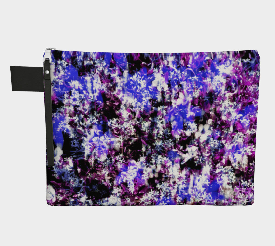 Fantasy Floral Zippered Pouch Zipper Carry-all  Roxie Rudolph Roxie Rudolph Roxie Rudolph